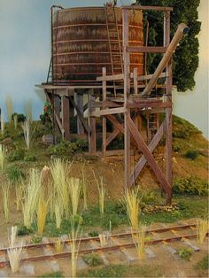 """Railroad Line Forums - The Gallery: Mar. """"Towers: Water, Coal & More"""" Ho Scale Train Layout, Ho Scale Trains, Model Train Layouts, Water Tank, Model Trains, Towers, Tanks, Cabin, House Styles"""