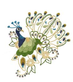 Dazzling Peacocks- Machine Embroidery Designs from Splinters & Threads- lots og great peacocks- another site new to me