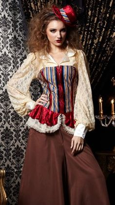 awesome Womens Victorian Lady Steampunk Cosplay Halloween Costume