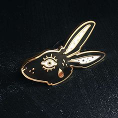 Lucky Rabbit Tears Hard Enamel Lapel Pin Flair // LIMITED