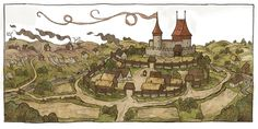 Kingdom Come Deliverance Codex Vila Medieval, Medieval Castle, Medieval Art, Medieval Fantasy, Fantasy Castle, Fantasy Map, Kingdom Come Deliverance, Dungeon Maps, Historical Images