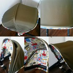 Khaki Set for Bugaboo Cameleon Canopy Hood and reversible seat liner Travel set for Bugaboo Cameleon 123 : bugaboo bee custom canopy - memphite.com