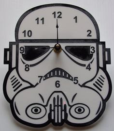 Star Wars Stormtrooper head clock by TheobaldGraphics on Etsy, $35.00