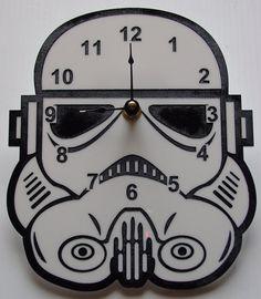 Star Wars Stormtrooper head clock by TheobaldGraphics on Etsy, $35.00