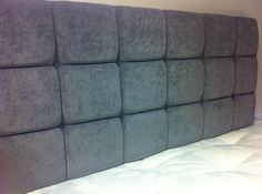 Grey Buttoned 5ft King Size Headboard by Jacobsheadboards on Etsy, £59.00