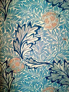 William Morris wallpaper at Red House where Morris lived from 1860-1865.