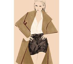 Le short et la cape d'Hannah MacGibbon - collection Chloé automne-hiver 2009-2010
