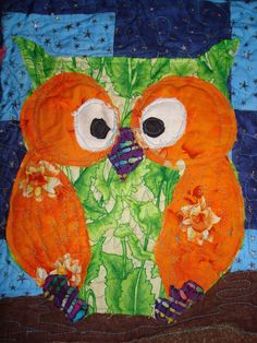 Hectichousehold: The Owl Quilt Comes Together...free motion quilting