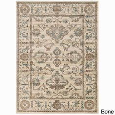 Admire Home Living Corina Oriental Area rug (5'3 x 7'3) (5'3 x 7'3 - Bone), Ivory (Olefin, Abstract)