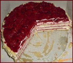 Malinový dort s macparpone