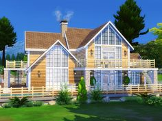 Charming lake house built on 40x30 lot in Granite Falls. Found in TSR Category 'Sims 4 Residential Lots'