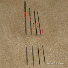 Straw or Milliner Needles for Hand Embroidery