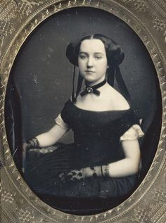 Early Victorian daguerreotype portrait of a woman. Description from pinterest.com. I searched for this on bing.com/images