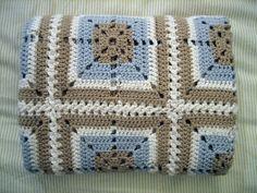 Crochet baby blanket, via Flickr. Kleuren