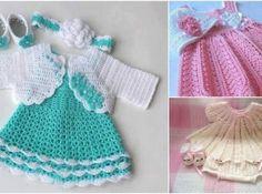 Örgü Çoçuk Elbiseleri – Kız Çocukları İçin 72 Adet Örgü Elbise Modelleri
