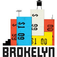 BROKELYN Logo by The Heads of State. Identity design for Brokelyn, an online resource for living large on a limited budget in the best borough of them all. Collateral Design, Identity Design, Logo Design, Print Design, Logo Inspiration, Badges, Logo Image, Head Of State, Great Logos