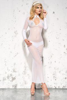 Сексуальная сорочка просвечивающая длинная белая Me Seduce MeS_Sarah White, купить за 2590руб. в интернет магазине!