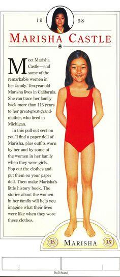American Girl paperdoll – Don't We Look Alike?