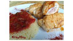 """Involtini di pollo alla paprika con cous cous ai funghi di Rosa """"Kreattiva"""""""