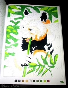 #Coloriage #Mysteres #panda @LauryRow       Like my page here :: https://www.facebook.com/merveillesdetentesdelaury