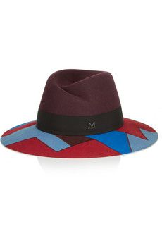 Maison Michel Virginie wide-brim rabbit-felt hat | NET-A-PORTER