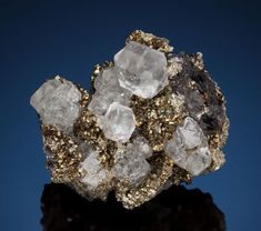 Fluorite and Pyrite - Gibraltar Mine, Naica, Mun. de Saucillo, Chihuahua, Mexico
