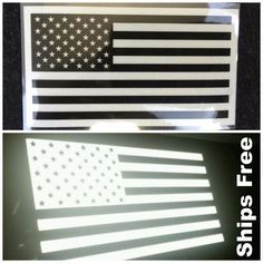 American Flag Sticker Decal Reflective Tactical Subdued Military (Ships In USA) American Flag, Decals, Truck, Ships, Military, Stickers, Usa, Design, Tags
