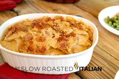 The Slow Roasted Italian - Printable Recipes: Bacon Cheddar Beer Potatoes Au Gratin