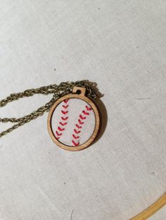 Mini Embroidery Hoop Necklace - Sinker