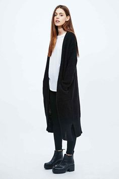 Sparkle & Fade Maxi Detail Cardigan in Black - Urban Outfitters