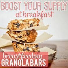 Breakfast Granola Bars | 23 Lactation Recipes That Will Boost Your Production And Taste Buds
