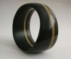 Handmade Resin Bangle Bracelet Black Organic by LugoCreativeResin, $28.00