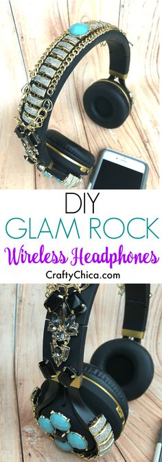 I've been seeing these crazy embellished headphones all over Pinterest and knew my life wouldn't be complete unless I made a pair. I LOVED this project! It's so over-the-top and I'm happy I invested in a wireless set. I wear these all over the house and feel oh-so-fancy! You can buy cheap costume jewelry or …
