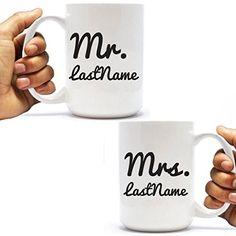 Custom Mr. and Mrs. Coffee Mug - 15oz , wedding gift, new... https://www.amazon.com/dp/B06XS2WT4V/ref=cm_sw_r_pi_dp_x_Fny0ybZAAPKZ1