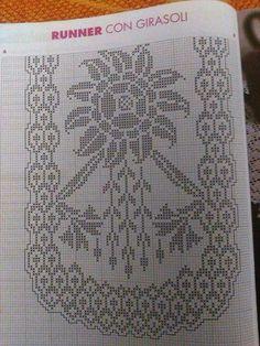 Filet Crochet Charts, Crochet Stitches, Chrochet, Crochet Lace, Graph Paper Art, Crochet Tablecloth, Loom Beading, Doilies, Needlework