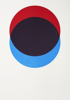 Circles – Red and Blue - hand-pulled screen print by Lane