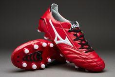 Mizuno Football Boots - Mizuno Morelia NEO FG - Firm Ground - Soccer Cleats - Red/White/Black - P1GA1510-62