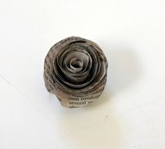 Glue Arts: Newspaper Roses