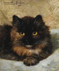 Henriette Ronner ~ A little kitten, 1896