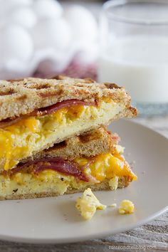 Easy breakfast recipe - Waffled Breakfast Grilled Cheese Sandwich Recipe