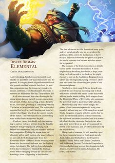 DnD 5e Homebrew — Elemental Domain Cleric by TheNittles