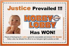 5  Thoughts on the Hobby Lobby Win - A Victory for All Religions: there's more to the decision to consider. Find out the rest of the story...
