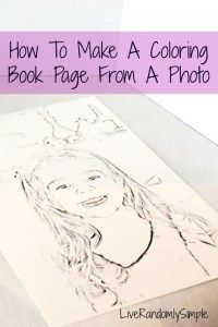 How to make a coloring book page from a photo!