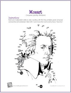 Mozart | Multiplication Connect-the-Dot Worksheet