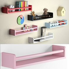 Amazon.com : 1 Light Pink Baby Nursery Room Wall Shelf Wood 17.5 Inch Ships Fully Assembled : Baby
