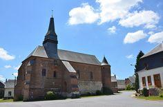 Eglise Saint-Martin (église fortifiée - XVIe) .Archon (Aisne - Thiérache) - Picardie