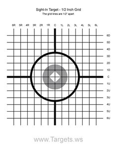 Shooting Targets Sight-in target 1 - 1/2 inch