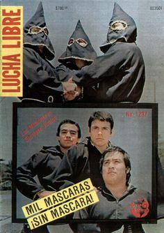 """""""Los Misioneros de la Muerte"""" El Signo, Negro Navarro and El Texano, LUCHA LIBRE Magazine #1237"""