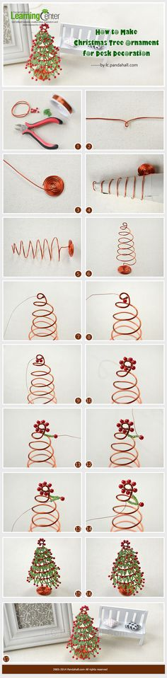 How to Make Christmas Tree Ornament for Desk Decoration