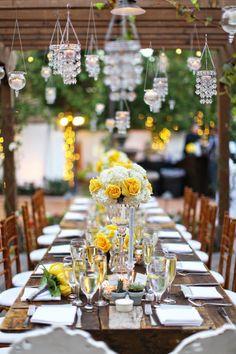 Yellow and beautiful!  A Good Affair Design   Aubrie  Danny ~ Franciscan Gardens, Priscila Valentina Photography
